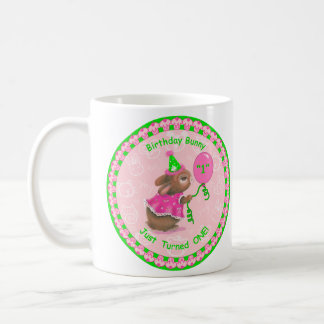"""Birthday Bunny Just Turned One!"" Classic Mug"