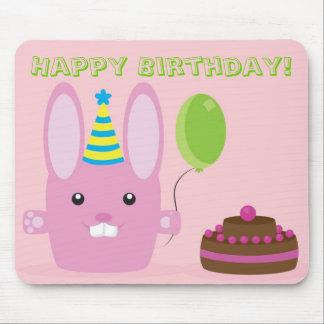 Birthday bunny mouse pad
