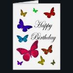 "Birthday Butterflies Card<br><div class=""desc"">Beautiful butterflies dancing around the Birthday Card in different colours, </div>"