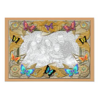Birthday Butterfly Photo Template Invitation