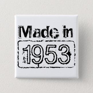 Birthday button with custom stamped birth year