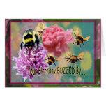 Birthday Buzz....  Belated Birthday Card