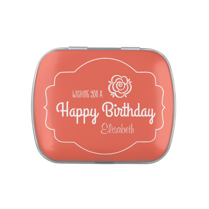 Birthday by mail Chic floral retro style CC0261 Candy Tin