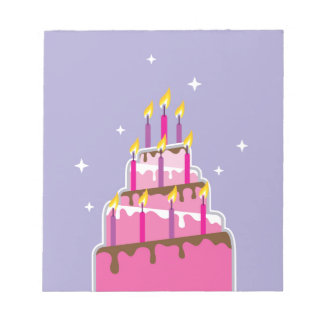 Birthday Cake 10 Candles Notepad