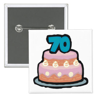 Birthday Cake 70th Birthday Gifts Pinback Button