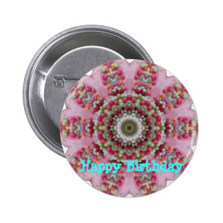 Birthday Cake abstract Buttons
