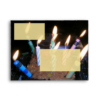 Birthday Cake and Candles Envelope