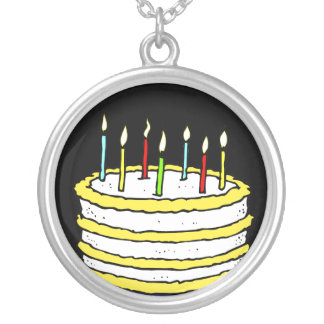 Birthday Cake and Candles Necklace