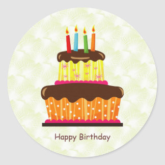 Birthday cake and candles Sticker