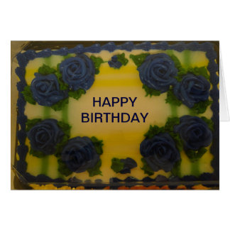 Birthday, Cake and Goose Card
