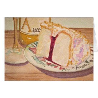 Birthday Cake and Wine Card