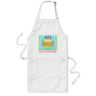 Birthday Cake Apron Business Personalized