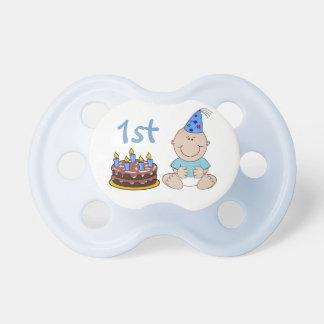 Birthday Cake Baby Boys Blue First Birthday Baby Pacifier