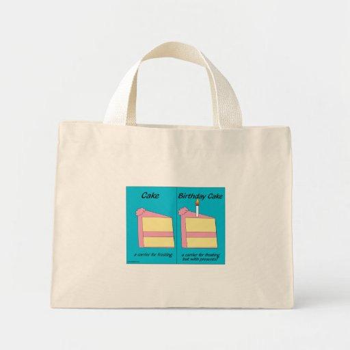 Birthday Cake Bag Mini Tote Bag