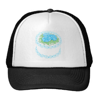 Birthday Cake Blue Trucker Hat