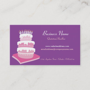 Anniversary cake business cards templates zazzle birthday cake business cards reheart Gallery