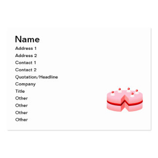 Birthday cake cartoon business card template