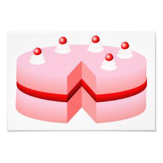 Birthday cake cartoon photo print