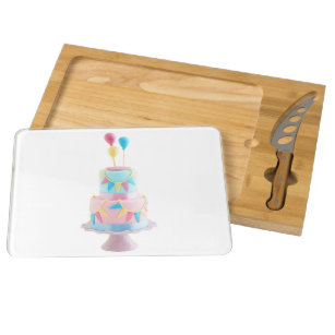 Birthday Cake Cheese Boards Zazzle