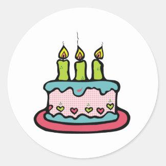 Birthday Cake Classic Round Sticker