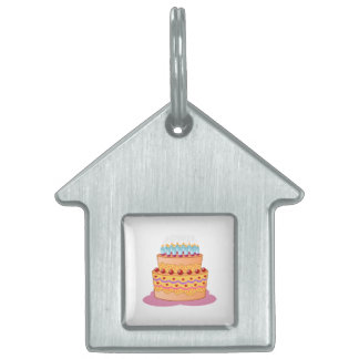 Birthday cake clipart pet ID tags