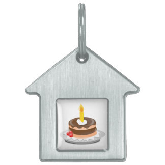 Birthday cake clipart pet ID tag