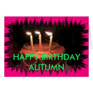 Birthday Cake Closeup BIRTHDAY CARD Greeting Cards