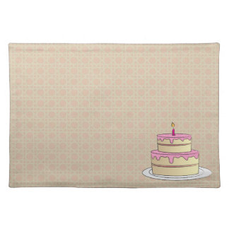 Birthday Cake Cloth Placemat