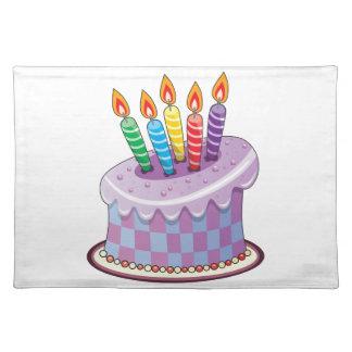 Birthday Cake Cloth Placemat