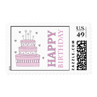 Birthday Cake Custom Postage