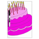 Birthday Cake Design Dry Erase Whiteboard