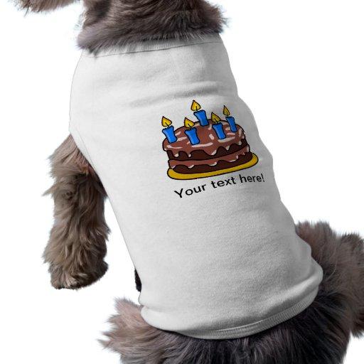 Birthday cake dog clothes