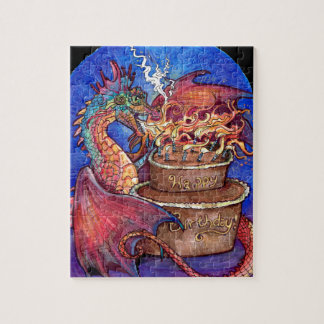 Birthday Cake Dragon Jigsaw Puzzle