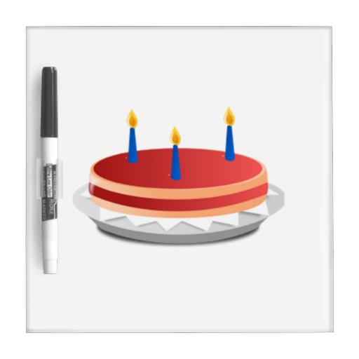 Birthday Cake Dry Erase White Board