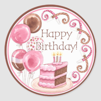 Birthday Cake Envelope Seal