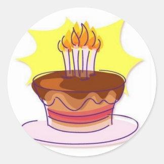 Birthday Cake Envelope Seals Classic Round Sticker