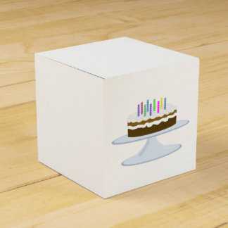 Birthday cake favor box