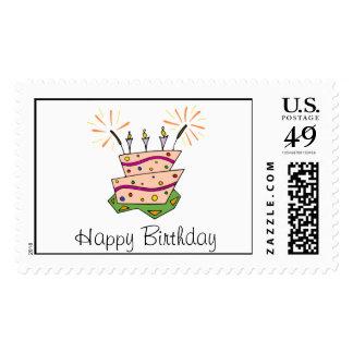 Birthday Cake Fun Postage Stamps
