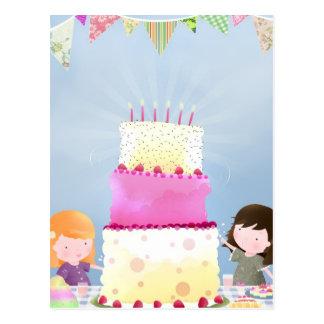 Birthday cake fun - postcard
