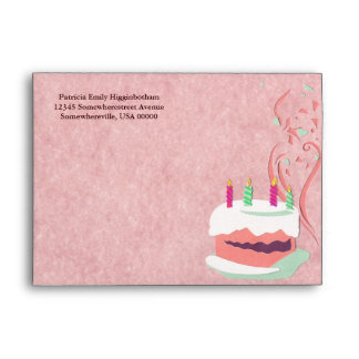 Birthday Cake Greeting Card Envelope