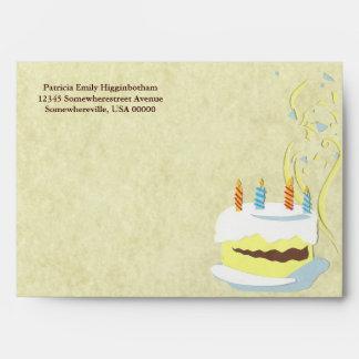 Birthday Cake Greeting Card Envelope
