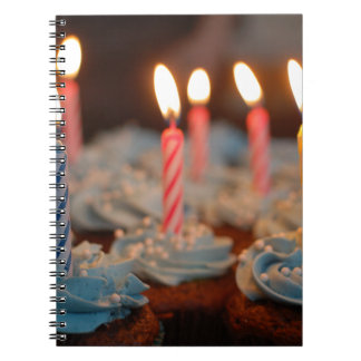 birthday cake House Party sweets dessert food bake Spiral Notebooks