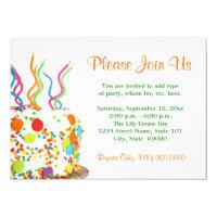 Birthday cake invitations announcements zazzle birthday cake invitations stopboris Image collections