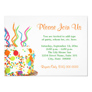 Birthday Cake Invitations