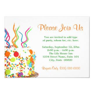 Birthday cake invitations announcements zazzle birthday cake invitations stopboris Gallery