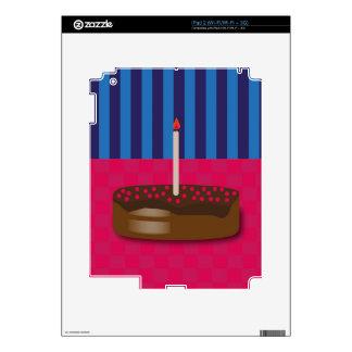 Birthday cake iPad 2 decals