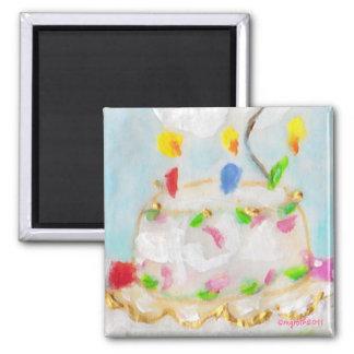 birthday cake magnet