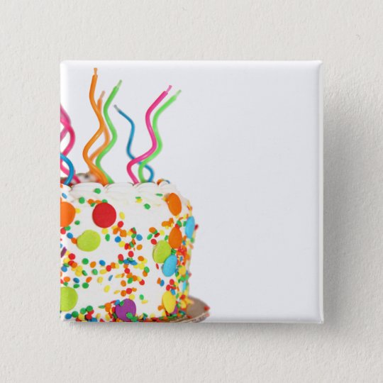 Birthday Cake Magnet Pinback Button