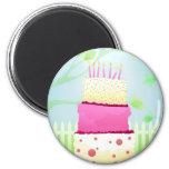 Birthday cake magnets