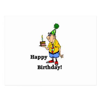 Birthday Cake -  Man Postcard